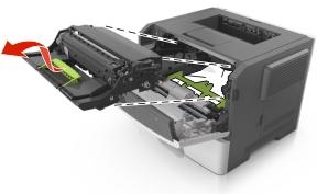 X bourrage papier ouvrez la porte avant for Papier imprimante autocollant exterieur