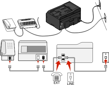 how to setup a fax machine with one phone line