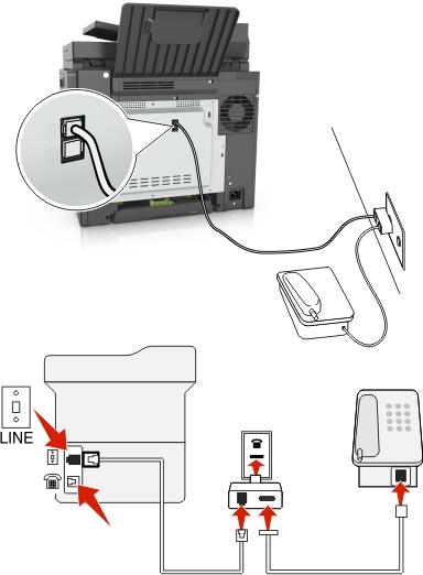 setup fax machine