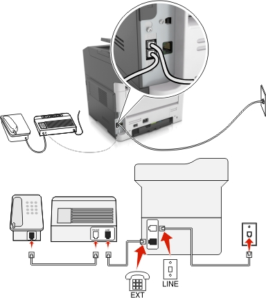 connecting fax machine to computer