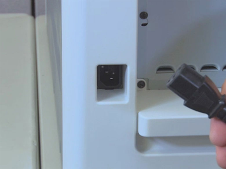 Connect the power cord to a properly grounded electrical outlet