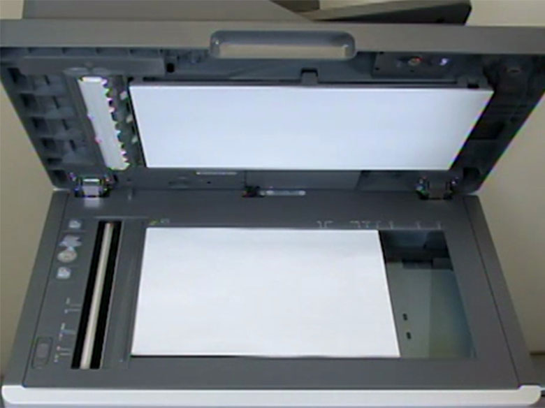 Place the document facedown on the scanner glass