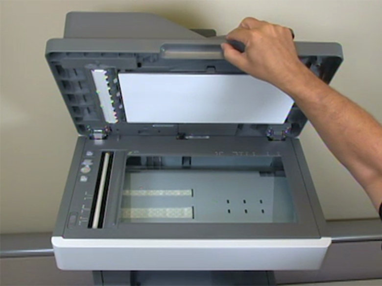 Open the scanner cover