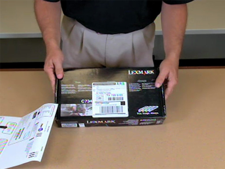Return the used toner cartridge to Lexmark