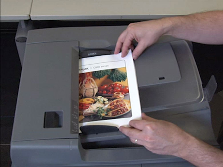 Load paper into the automatic document feeder