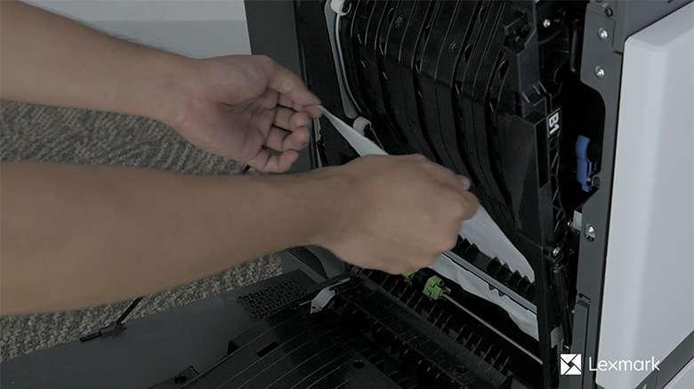 Entfernen Sie das gestaute Papier aus der Duplexabdeckung