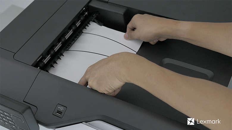 Retirez le papier coincé