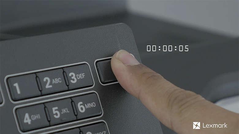 Mettez l'imprimante hors tension