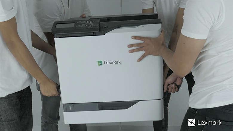 Déballez l'imprimante