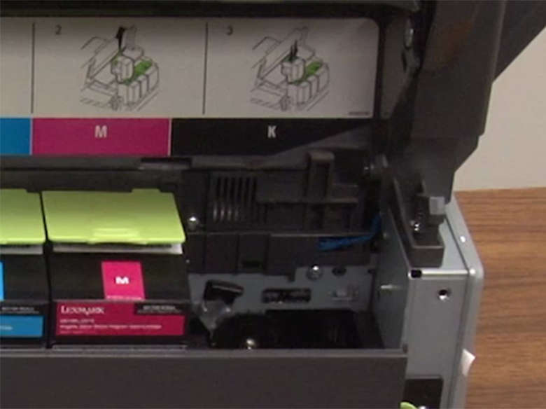 Remove the used toner cartridge(s) from the printer