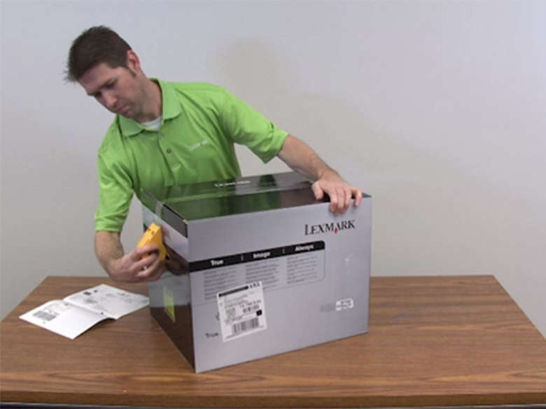 Return the used imaging unit to Lexmark for recycling