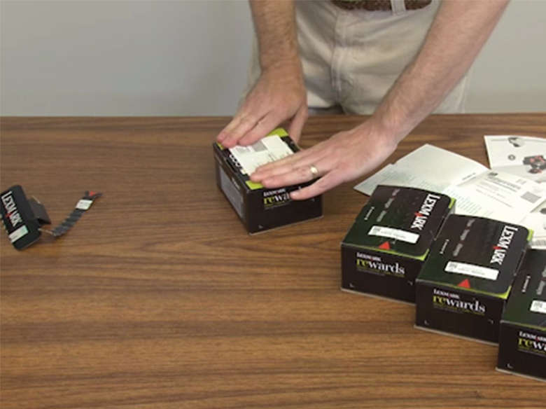 Return the used toner cartridge(s) to Lexmark for recycling