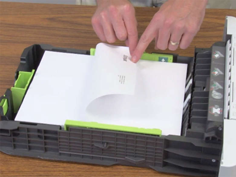 Load letterhead for double‑sided printing in the duo tray