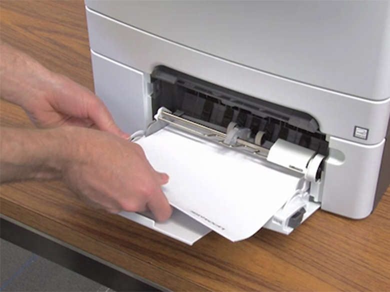 Load paper for two‑sided printing (duplex)