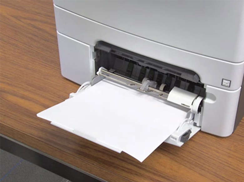 Load paper for single‑sided printing (simplex)