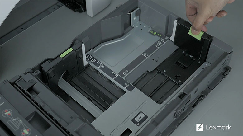 Load paper for two‑sided printing