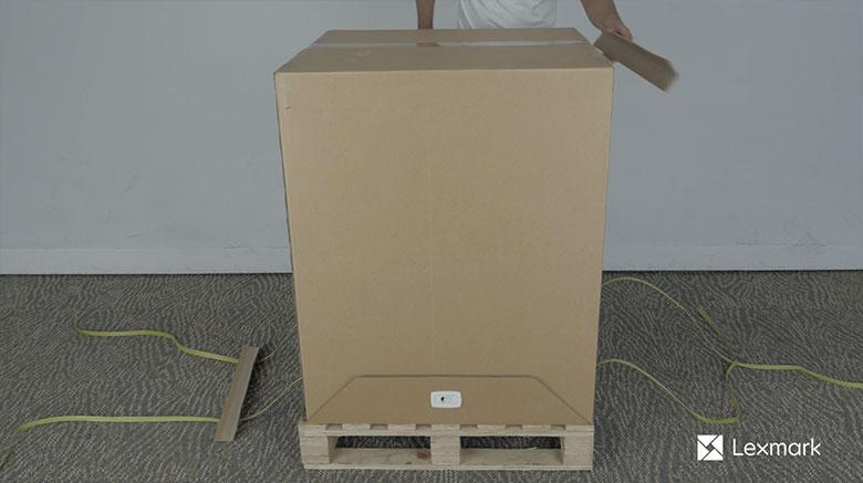 Estrazione della stampante dalla confezione