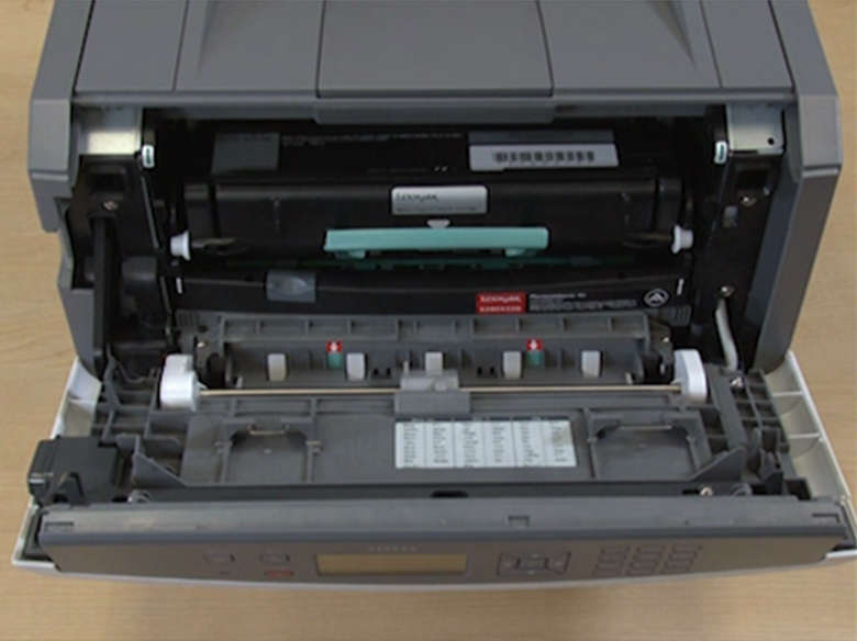 Insert the toner cartridge unit