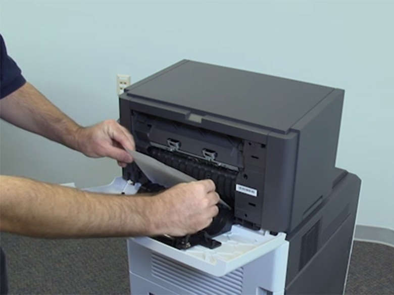 Remove jams from the staple finisher