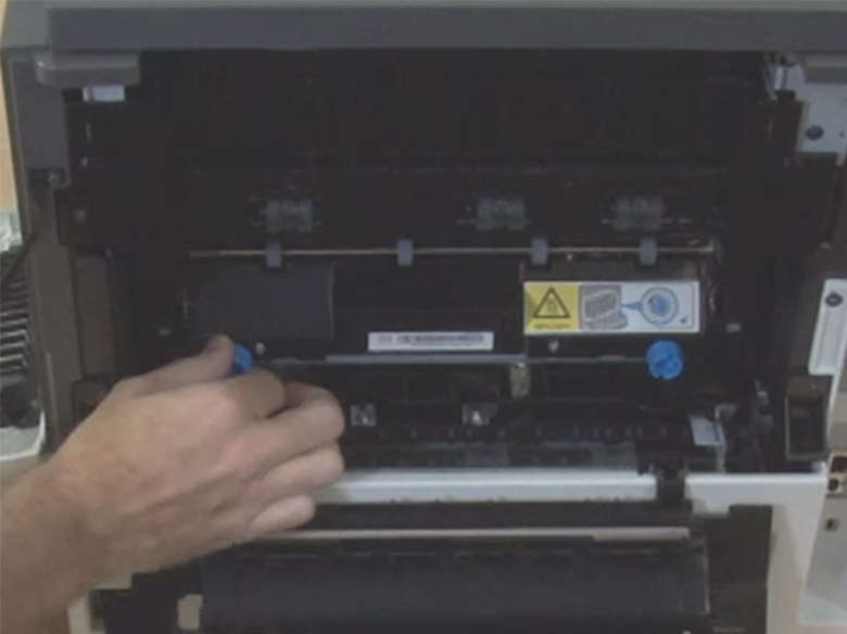 Remove the used fuser kit from the printer