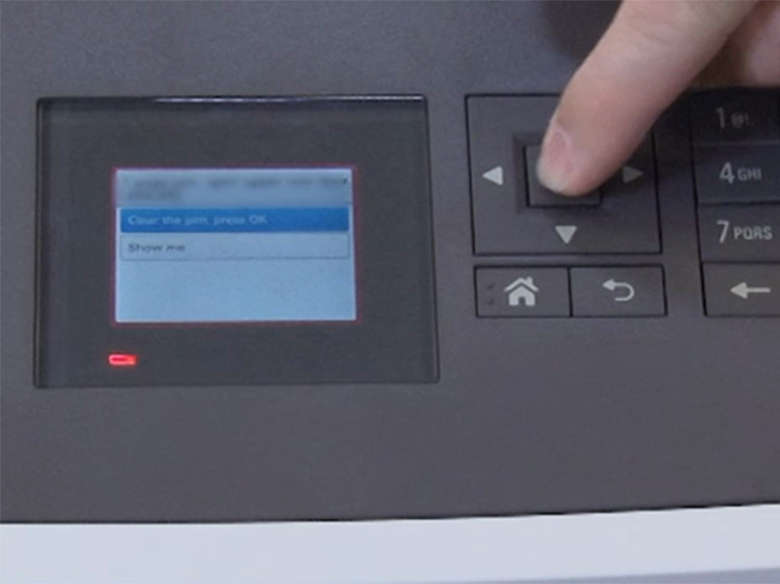 Clear the error message and continue printing