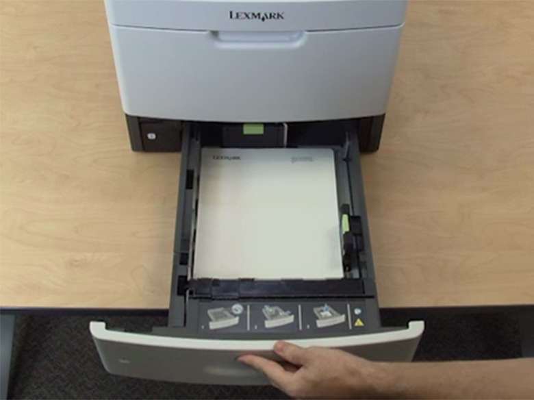 Load the paper tray for two-sided (duplex) printing