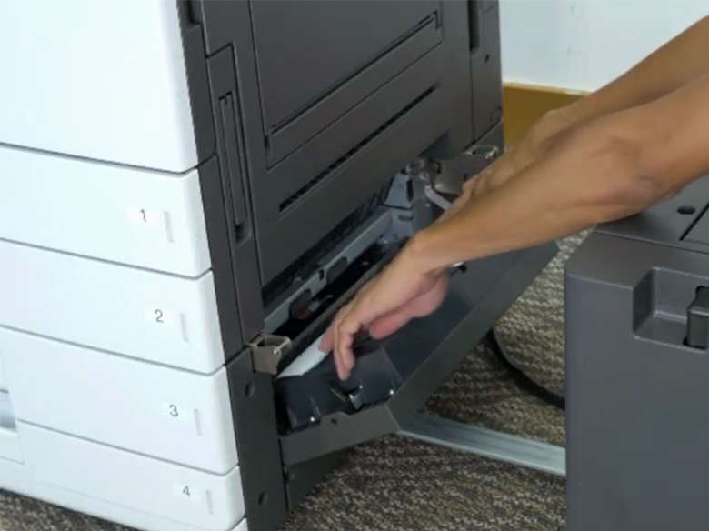 Remover atolamento de papel