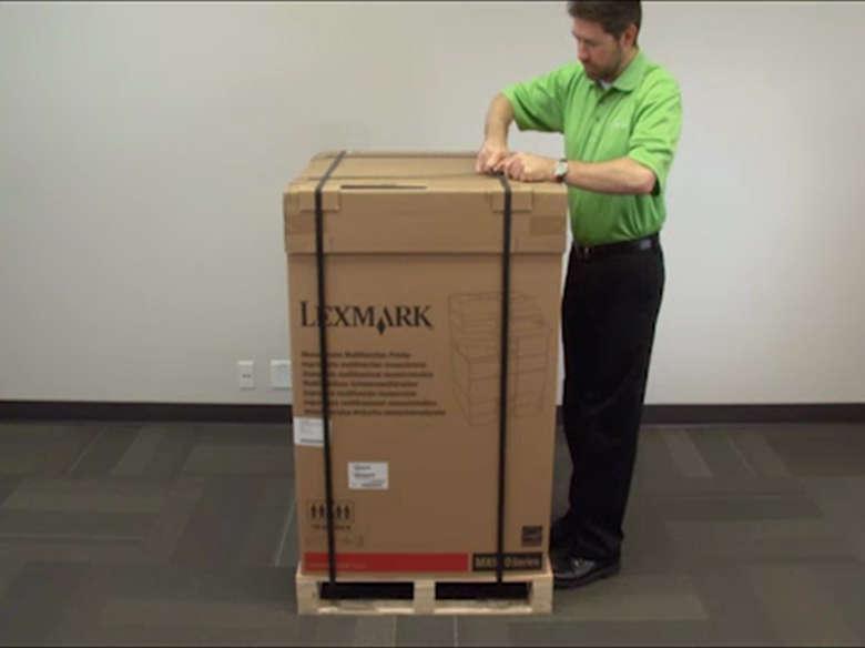 Retire la impresora de la caja