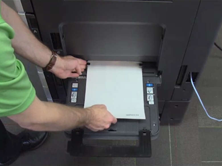 Load paper for two‑sided (duplex) printing ‑ with an optional finisher