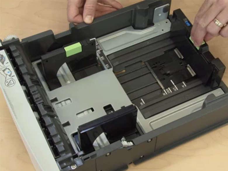 Load standard tray 1