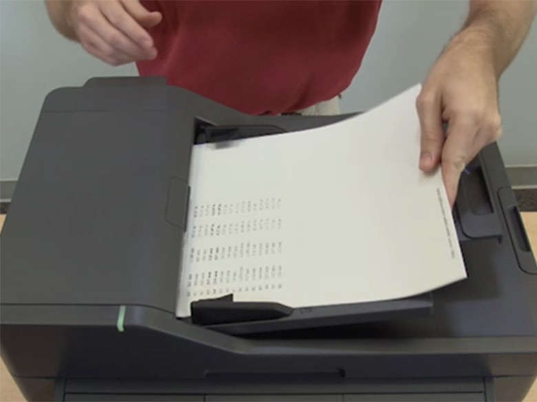 Load paper into the automatic document feeder (MX410,MX510)