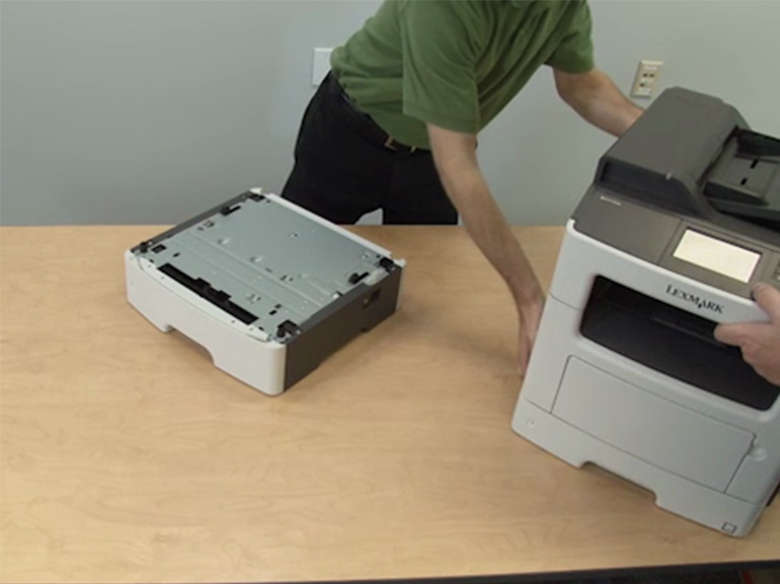 Remove trays from the printer