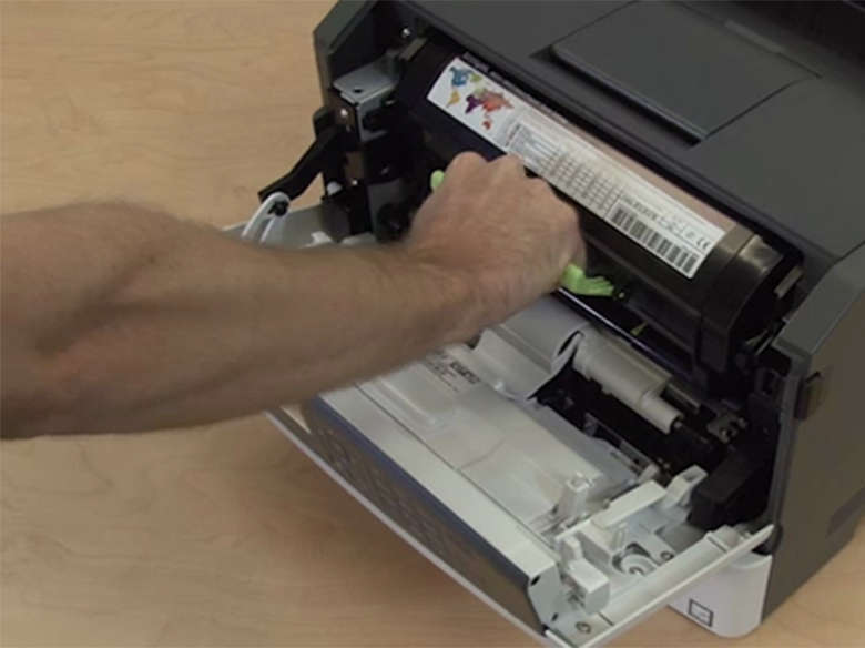 Remove the used toner cartridge