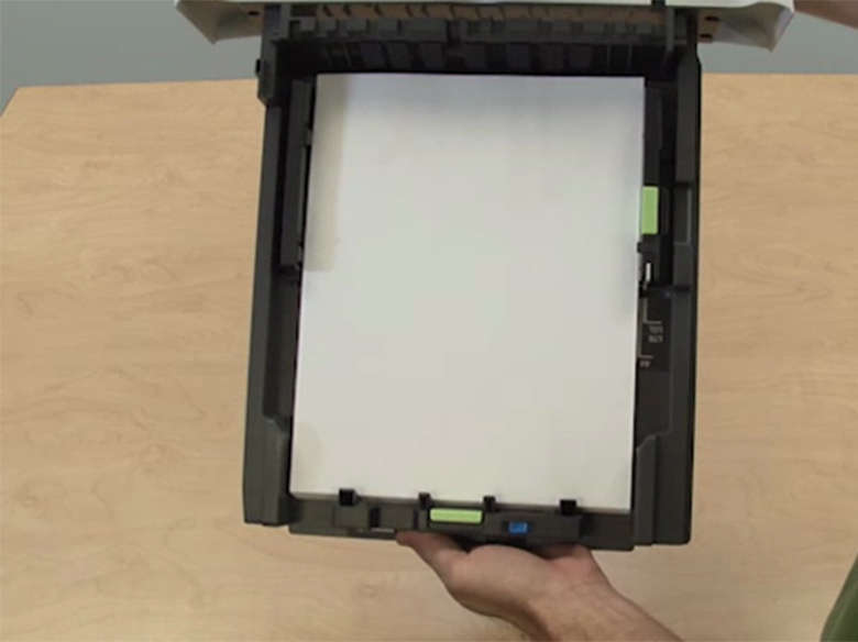Load letter paper into the tray (MX310)
