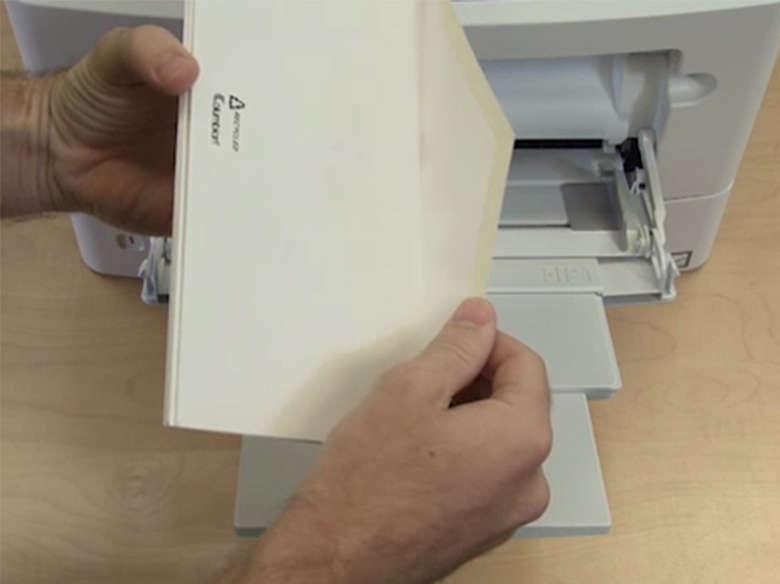 Bedrucken von Briefumschlägen