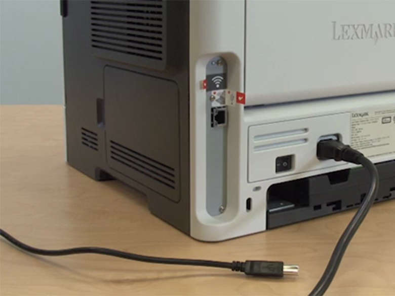 Power on the printer using a USB connection