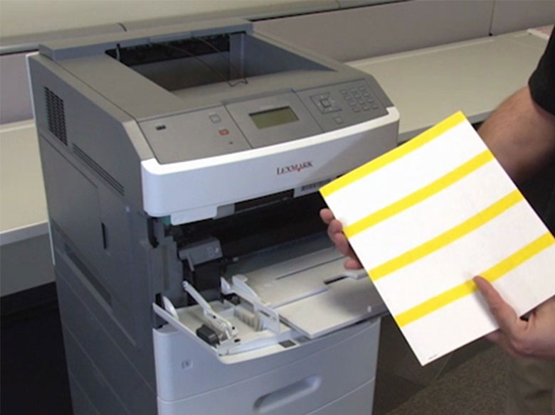Load the paper for duplex (two‑sided) printing
