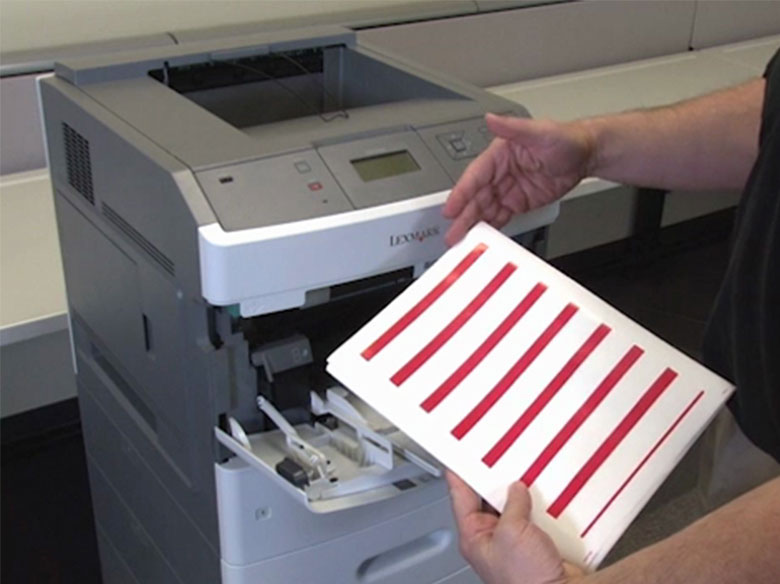 Load the paper for single‑sided printing