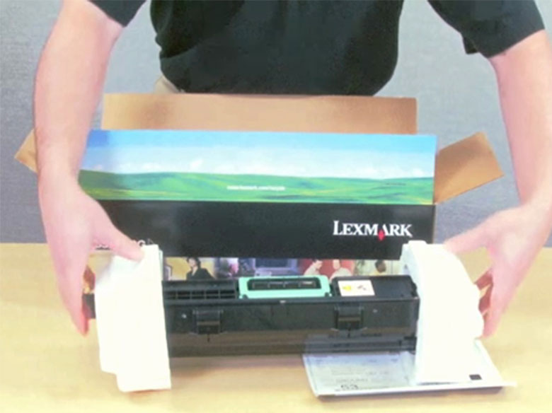 Return the used photoconductor to Lexmark