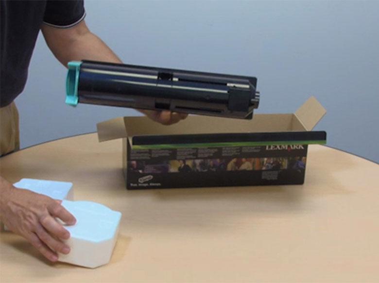 Unpack the toner cartridge