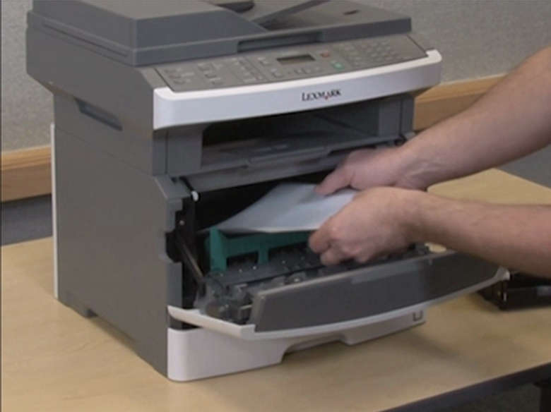 Remove jammed paper from within the printer
