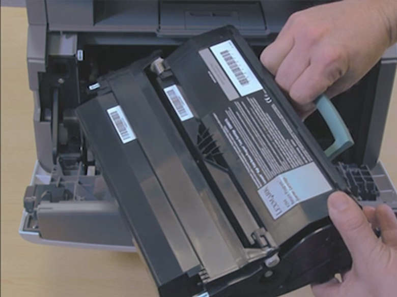 Remove the photoconductor kit and toner cartridge