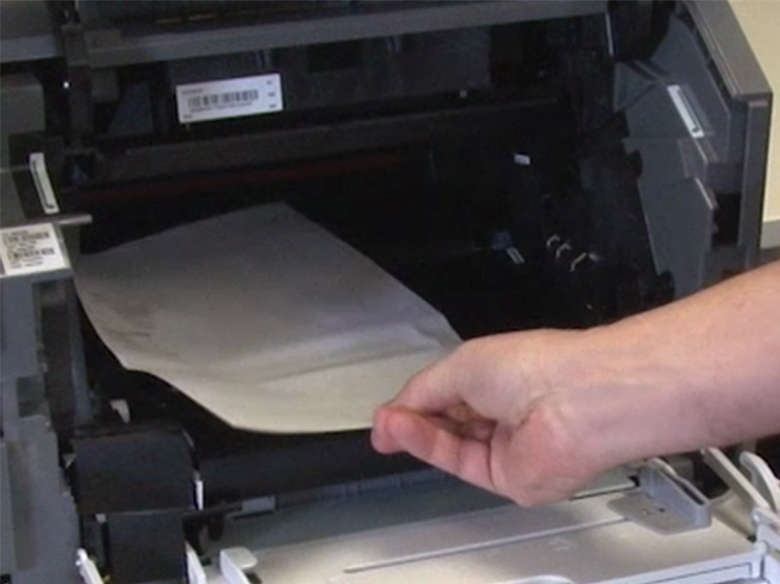 Remove the jammed paper