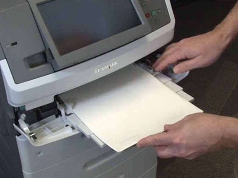 Load the paper for two‑sided printing