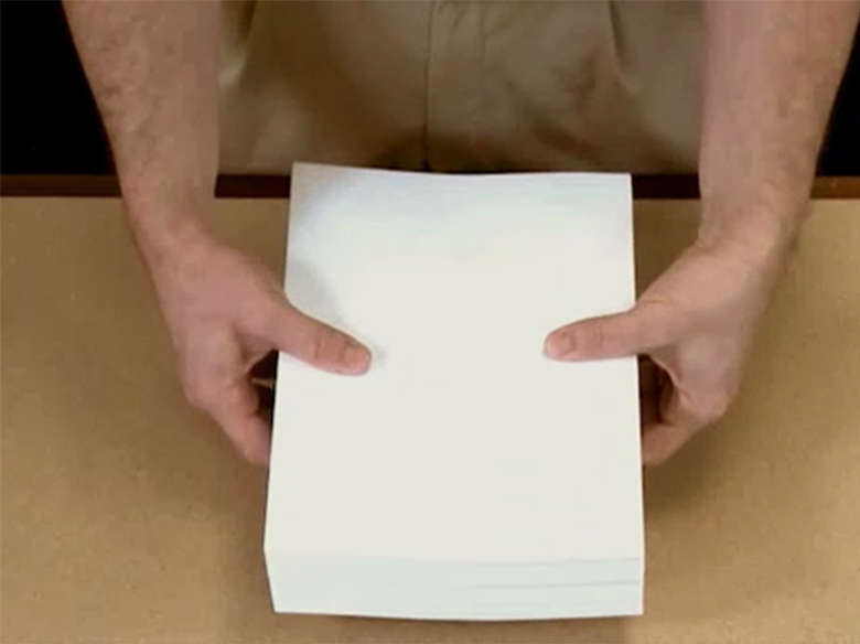 Flexión y aireamiento del papel