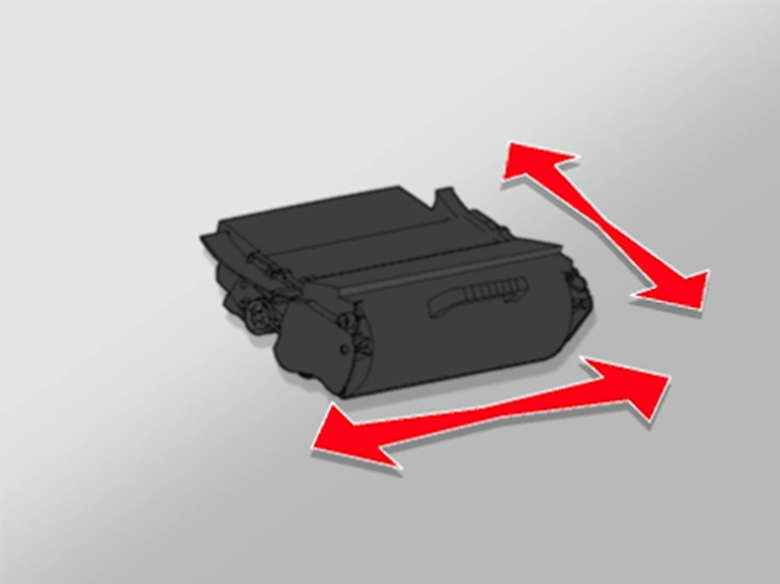 Shake the new toner cartridge in all directions to distribute the toner